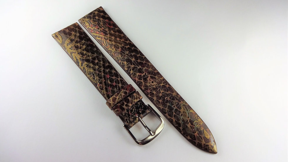 Replacement 18mm Brown/Gold Genuine Calfskin