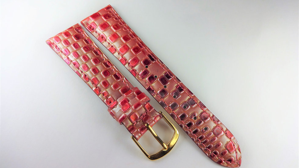 Replacement 20mm Red Genuine Leather
