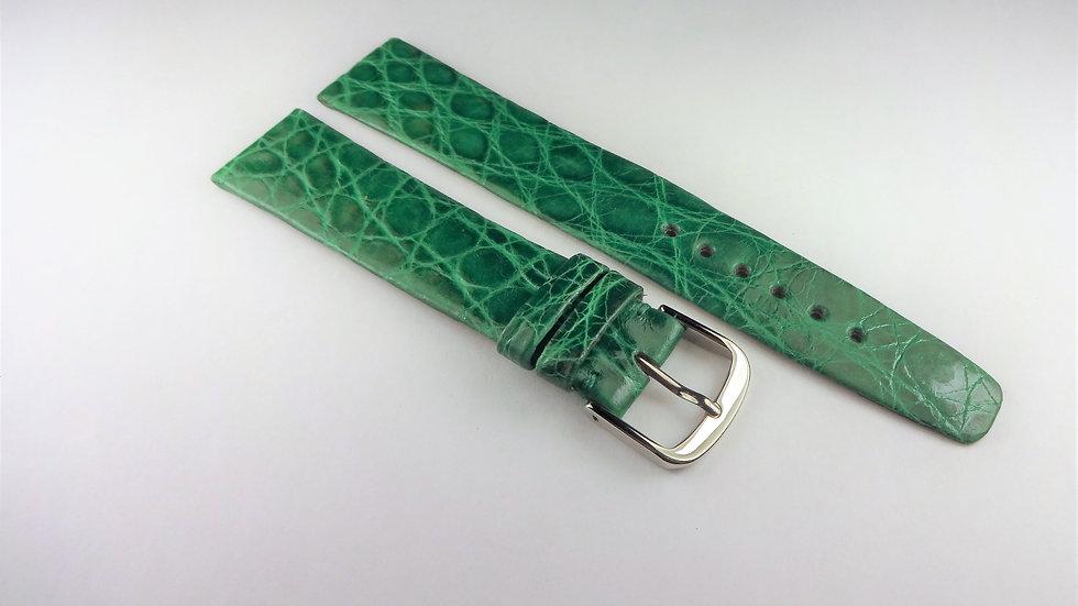 Tiffany & Co 18mm Green Genuine Crocodile