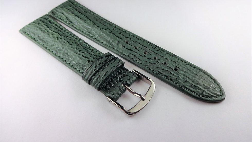 Paul Picot 20mm Green Genuine Sharskin