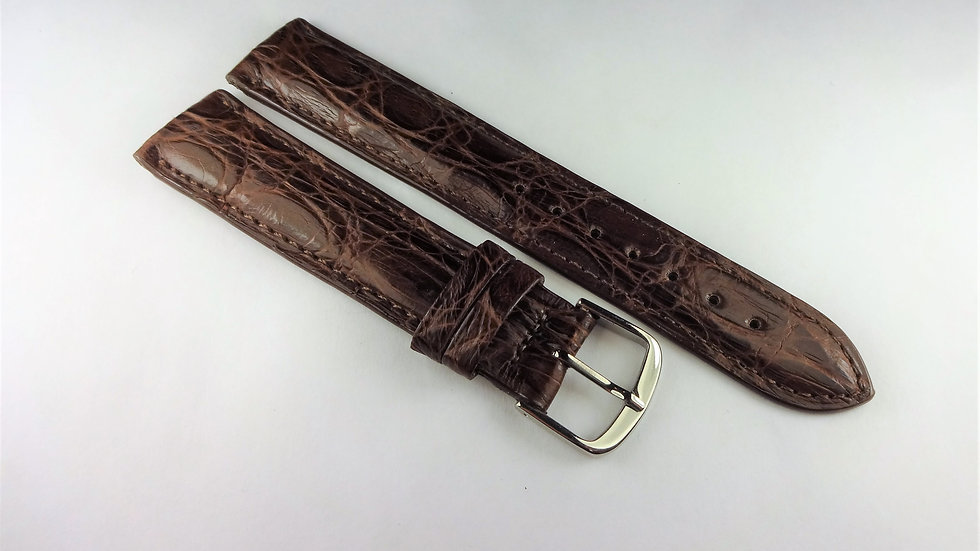 Replacement 19mm Brown Genuine Crocodile