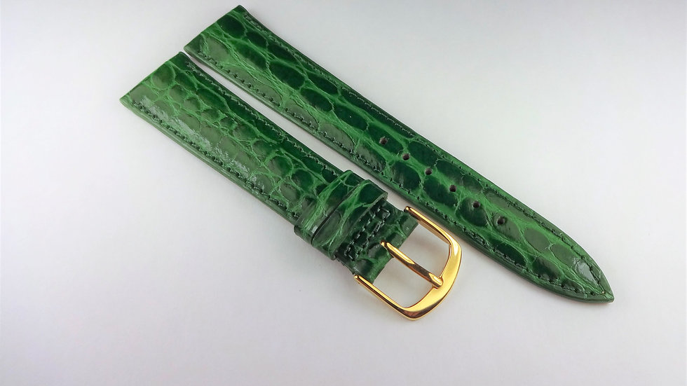 Replacement 19mm Green Baby Croco Grain on Calf
