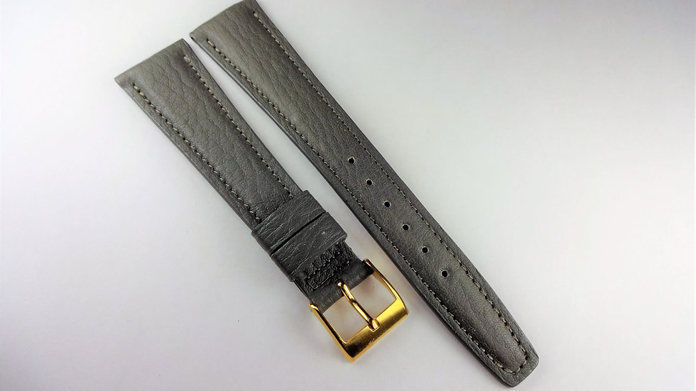 Replacement 20mm Gray Genuine Waterproof Leather