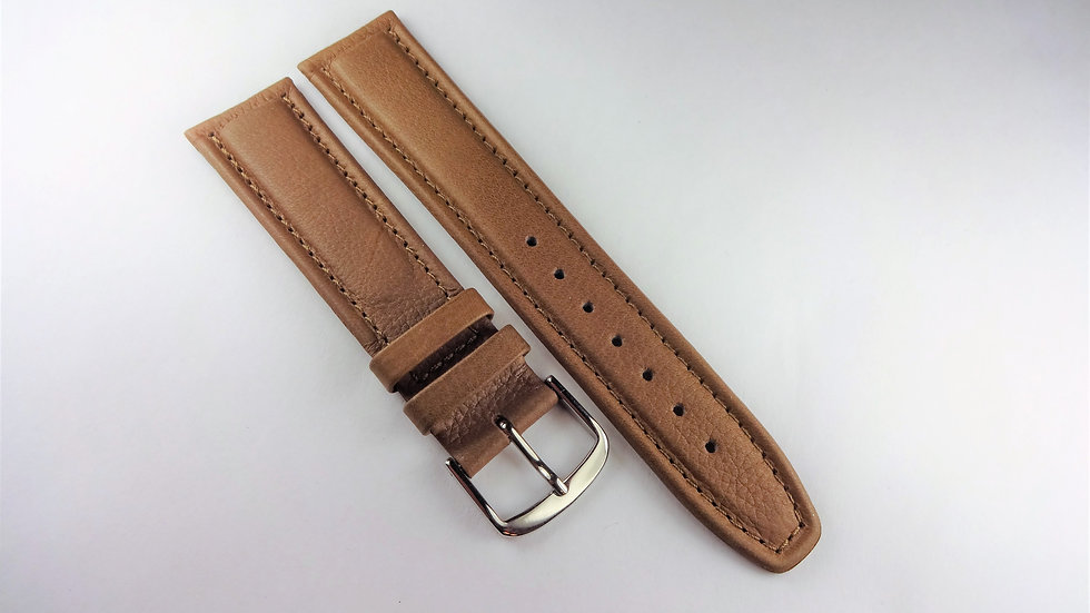 Nautica 20mm Brown Genuine Leather