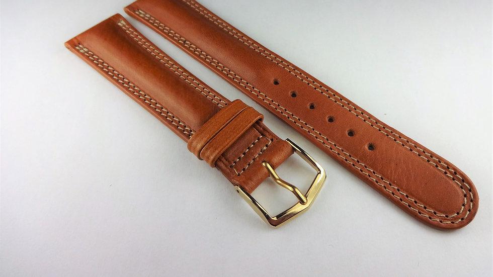 Cyma 19mm Tan Genuine Weastern Leather