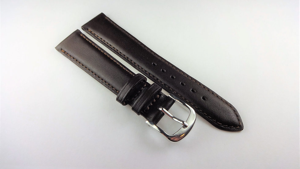 Replacement Box Leather 16mm Dark Brown Short
