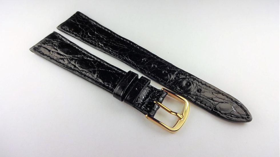 Longines 18mm Black Genuine Crocodile