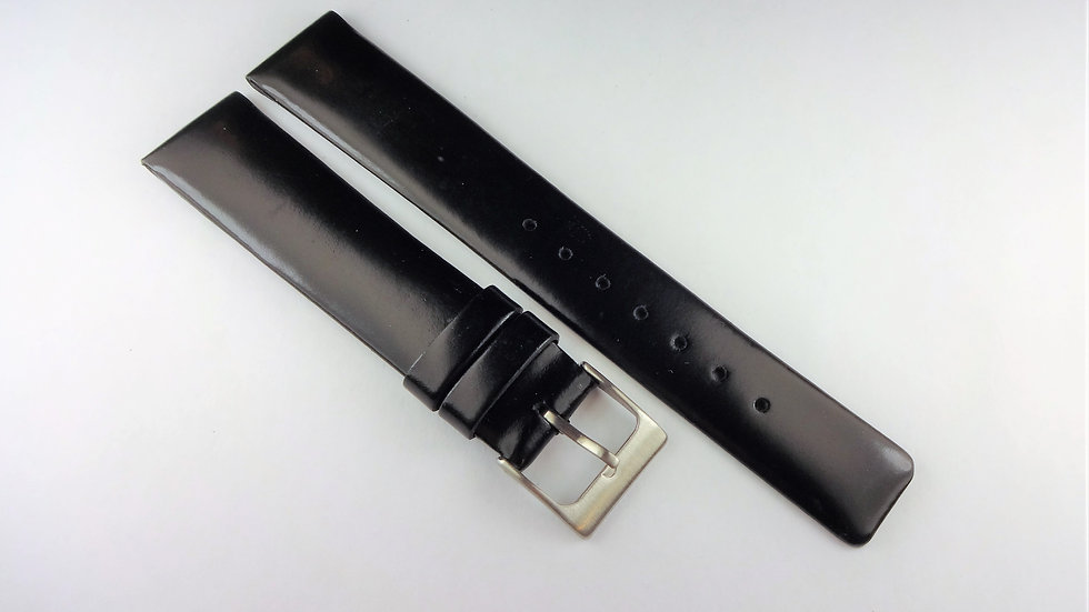 Replacement 18mm Black Genuine Leather