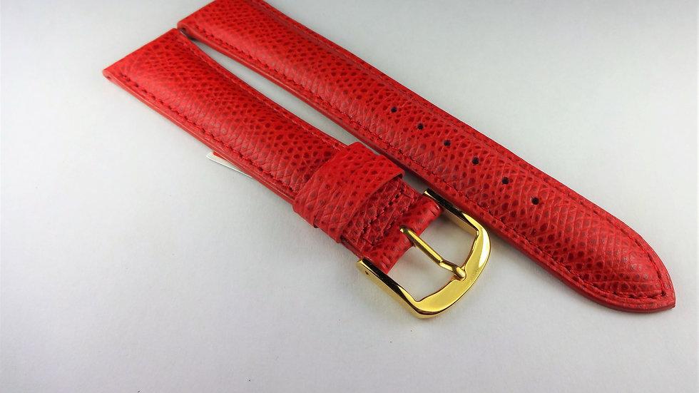 Cyma 18mm Red Genuine Safiano Leather
