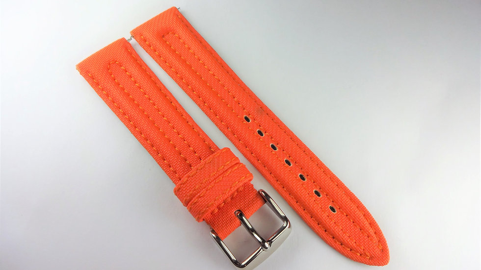 Replacement 20mm Orange Genuine Rubberized Leather