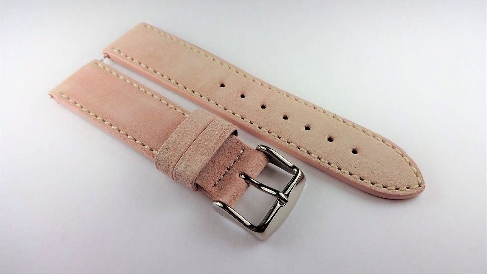 Replacement 18mm Pink Genuine Suede Leather