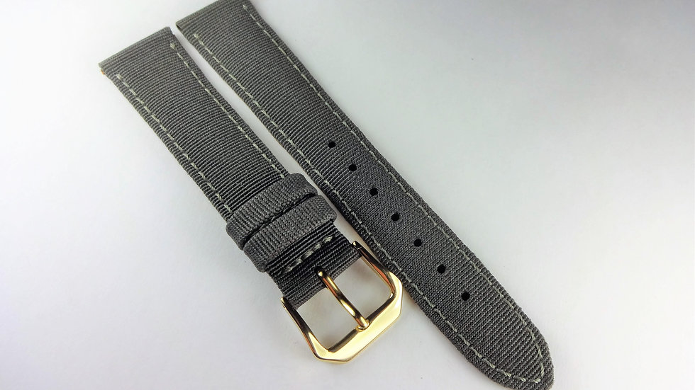 Replacement  18mm Gray Genuine Leather Fabric Top