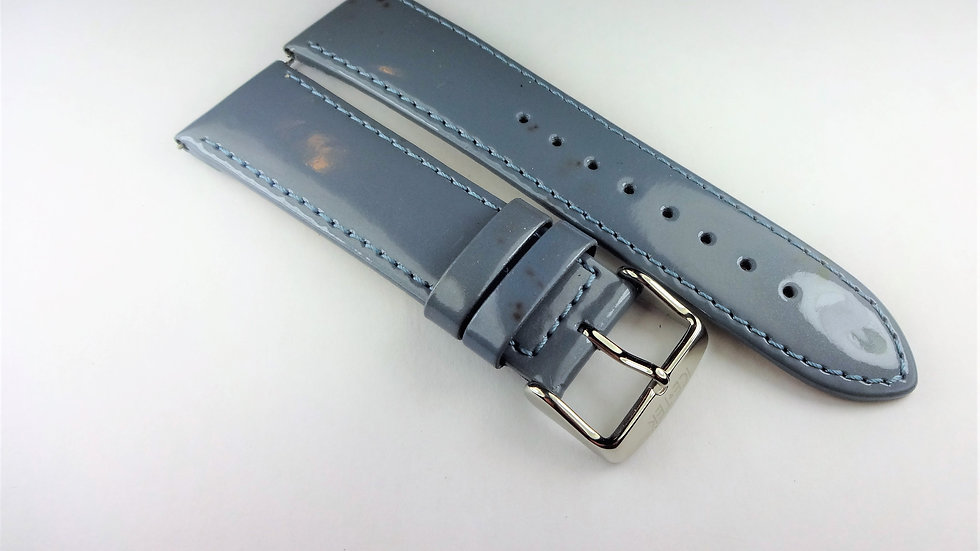 Ice-Tek 22mm Blue Patent Genuine Leather