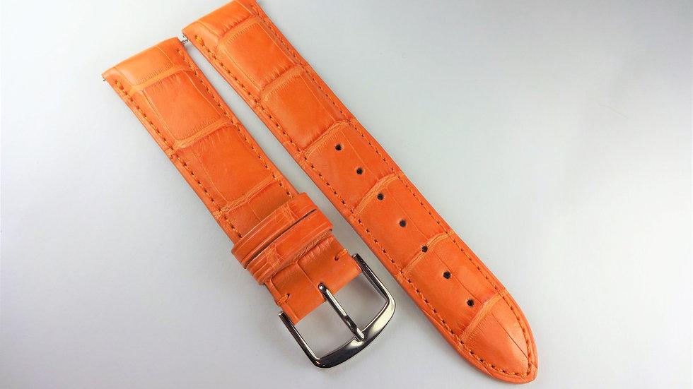 Replacement 20mm Orange Genuine Alligator