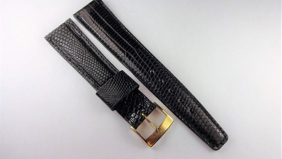 Replacement 19mm Black Genuine Alligator-Lizard