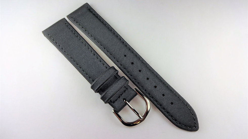 Replacement 18mm Gray Satin Rubberized Leather