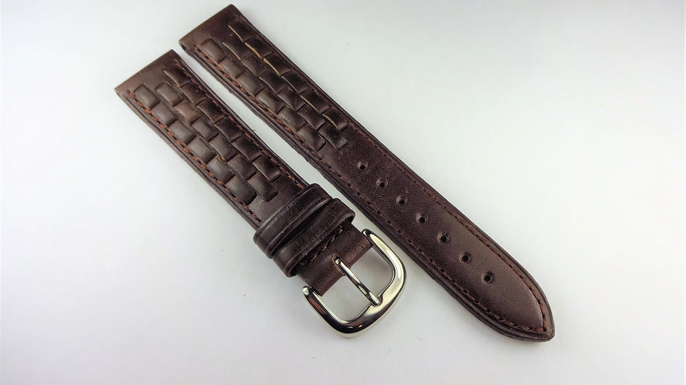 Replacement 18mm Brown Genuine Leather