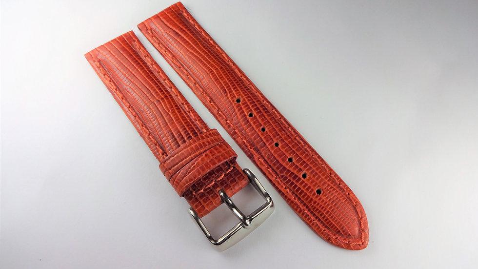 Replacement 20mm Orange Genuine Leather Lizard Grain