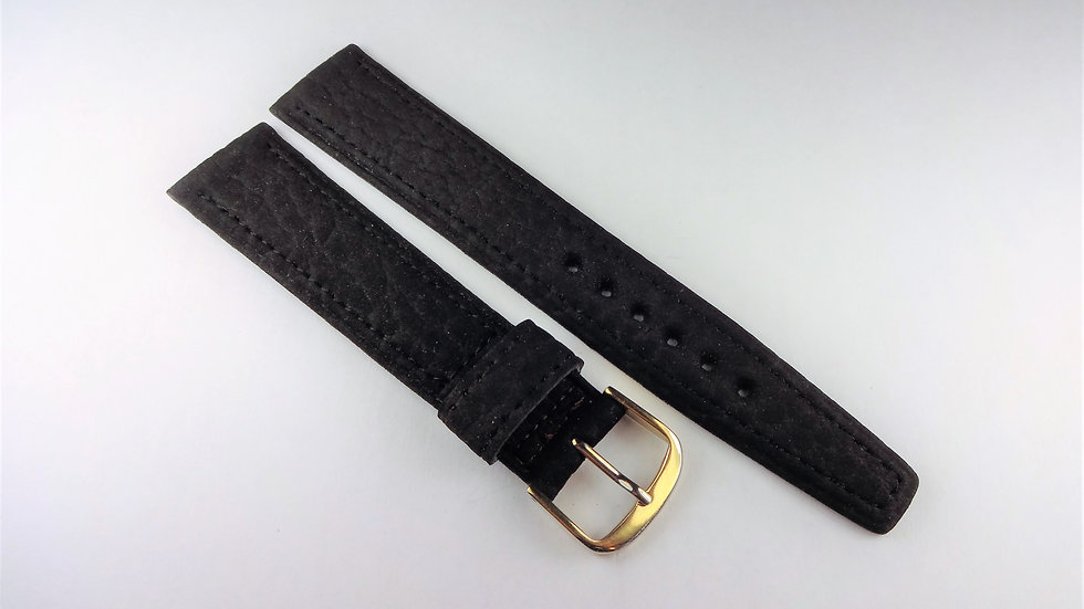 Replacement 18mm Black Corfam Suede