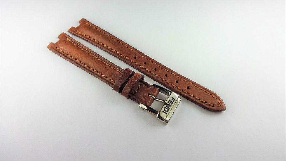 Fendi 12mm Brown Genuine Calfskin with Center Cuts