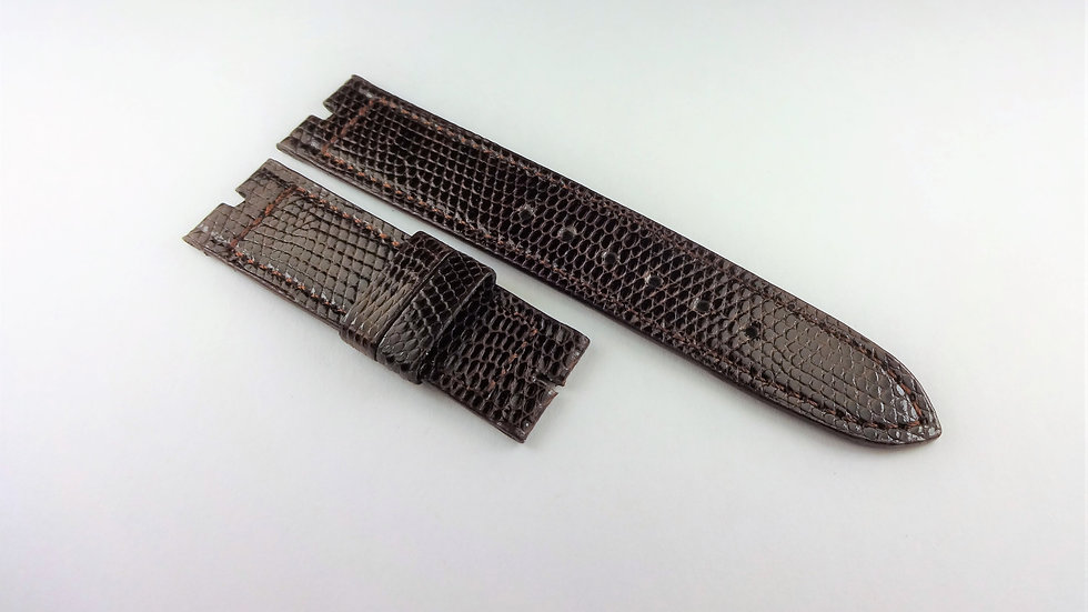 Replacement 16mm Brown Genuine Lizard Short for Gucci