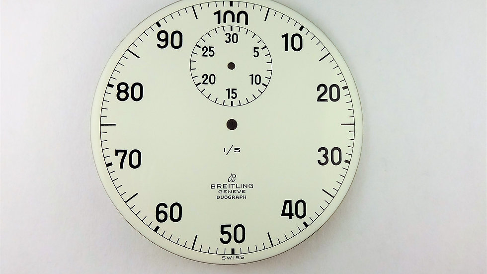Breitling Duograph Stop Watch White Enamel Dial 48mm