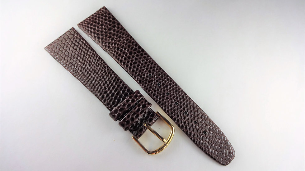 Replacement Hirsch 20mm Brown Genuine Leather Lizard Grain