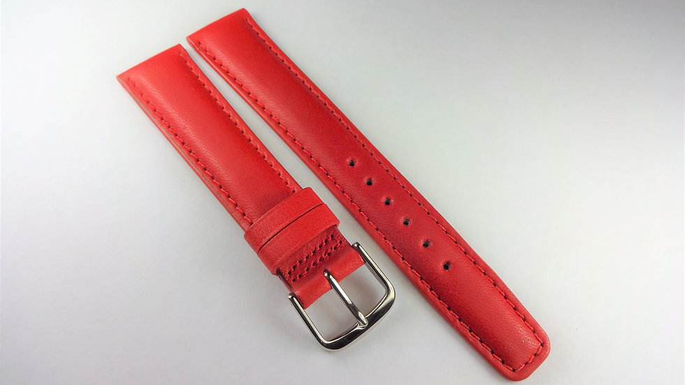 Replacement 18mm Red Genuine Leather