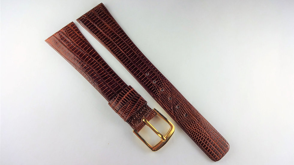 Replacement 20mm Brown Genuine Allig-Lizard