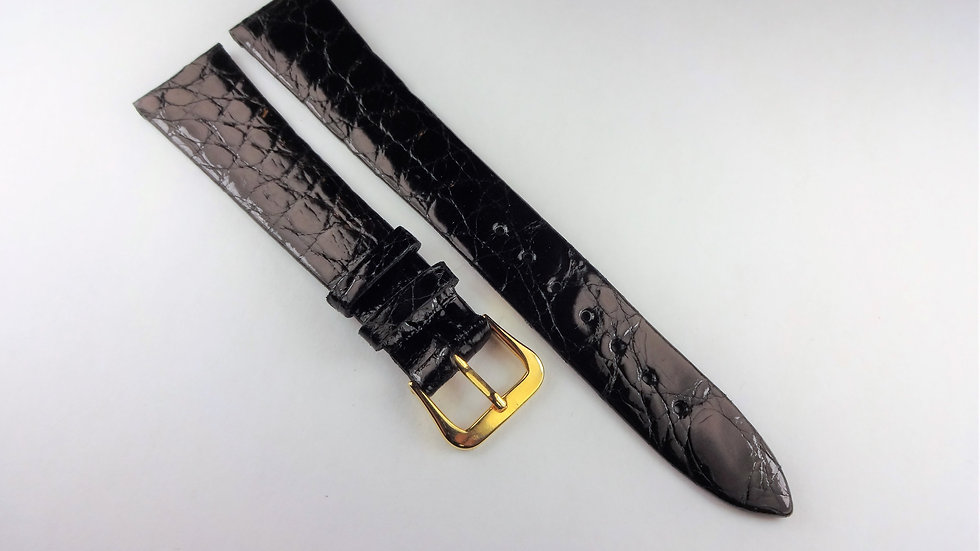 Replacement Hadley-Roma 18mm Black Genuine Crocodile