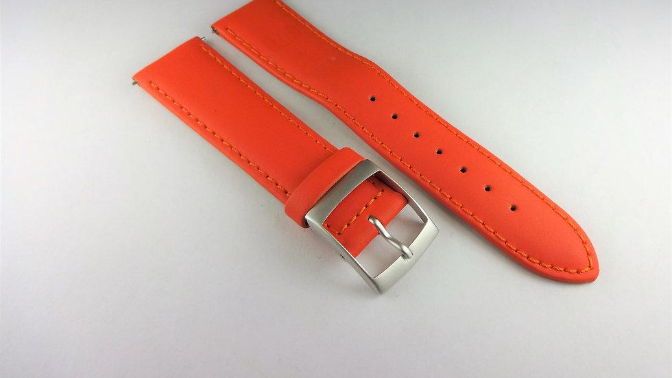 Lancaster 20mm Orange Smooth Genuine Leather