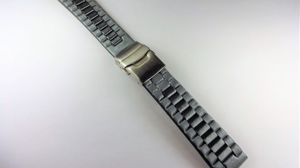 """Replacement """"Dragonlink""""  20mm Silver Genuine Leather"""