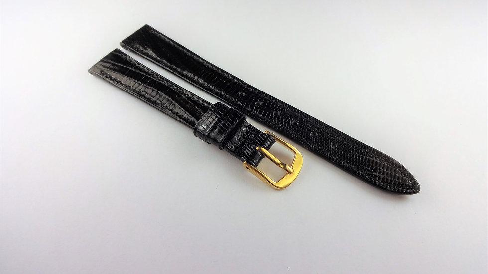 Longines 12mm Black Genuine Teju Lizard