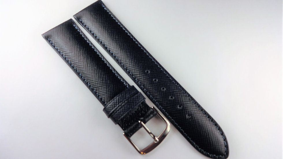 Replacement 20mm Blue Genuine Safiano Leather