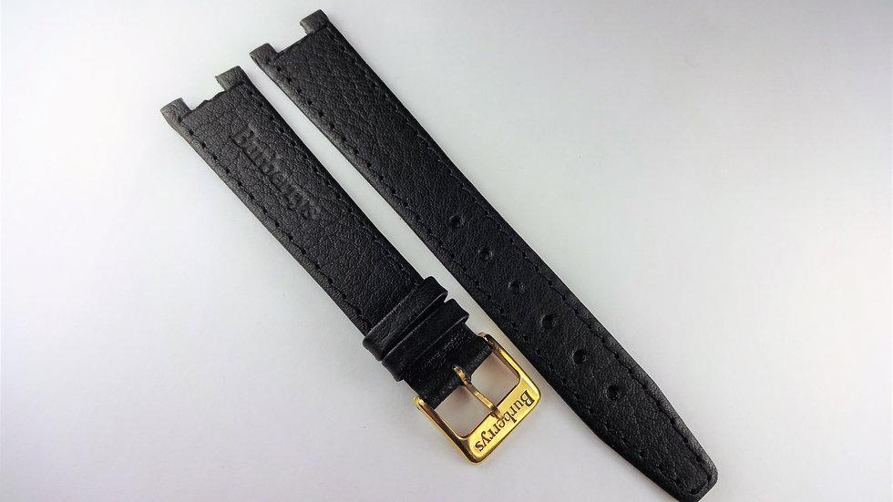 Burberrys 17mm Black Genuine Leather
