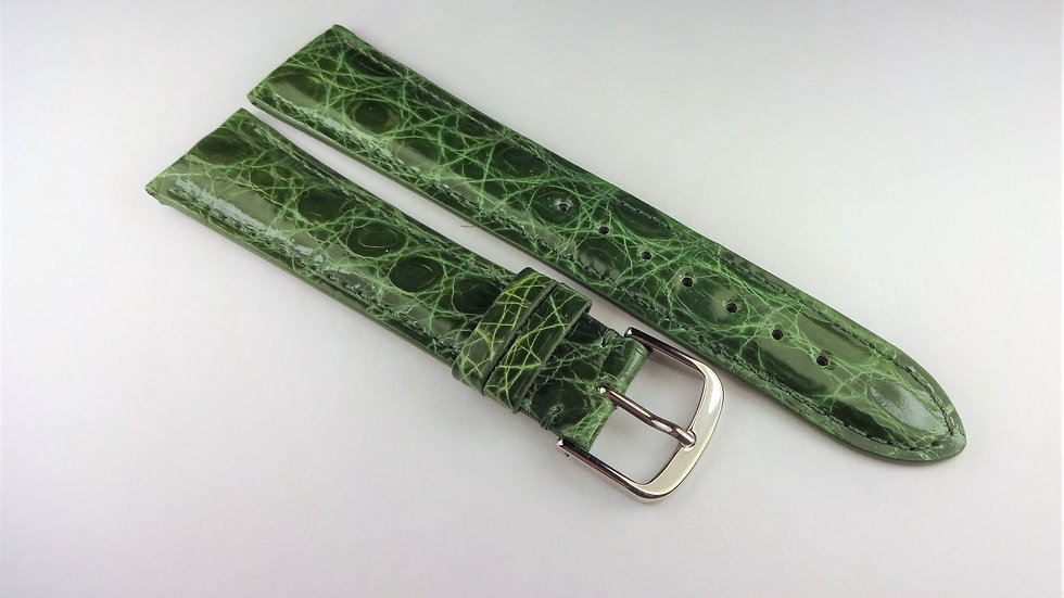 Replacement 19mm Green Genuine Crocodile