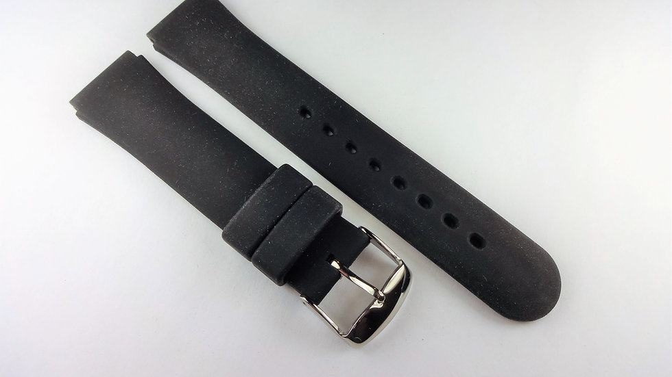 Replacement 18mm Black Silicone Band