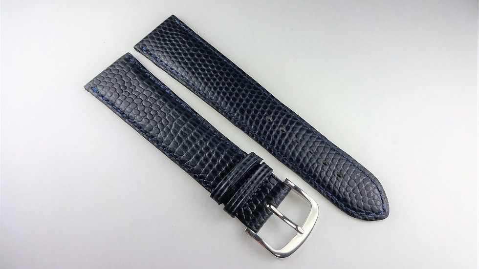 Replacement 20mm Blue Genuine Leather Lizard Grain