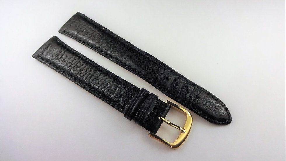 Replacement 17mm Black Genuine Leather