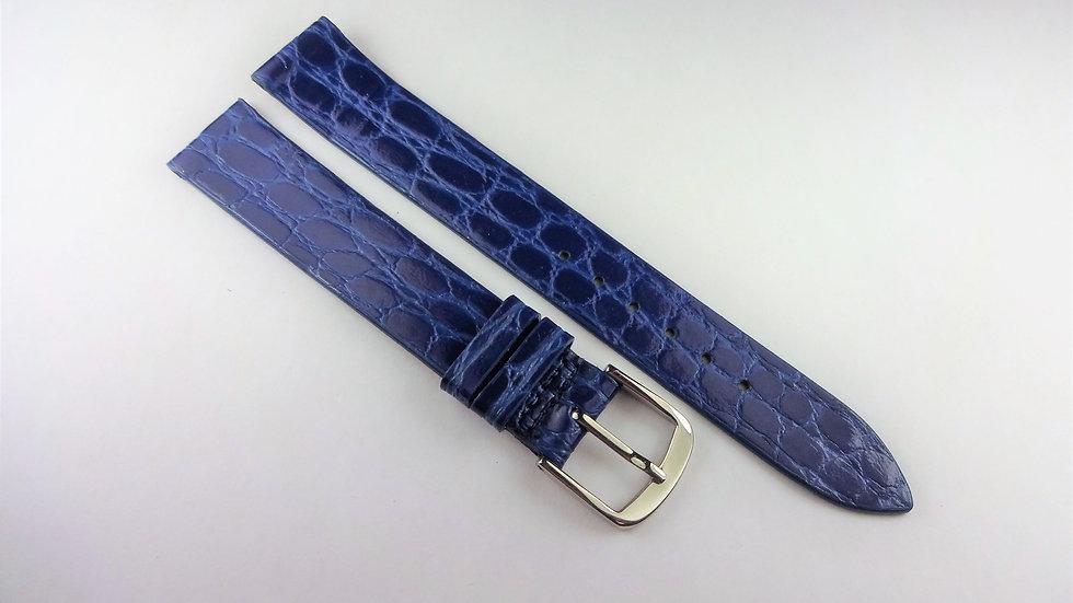 Replacement Blue 15mm Genuine Leather Crocodile Grain