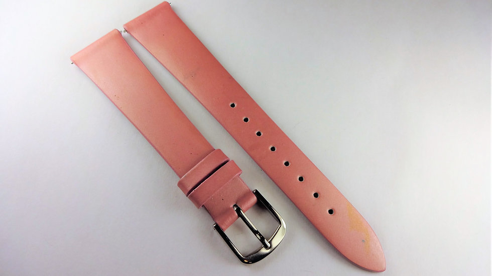 Replacement 18mm Pink Genuine Patent Leather