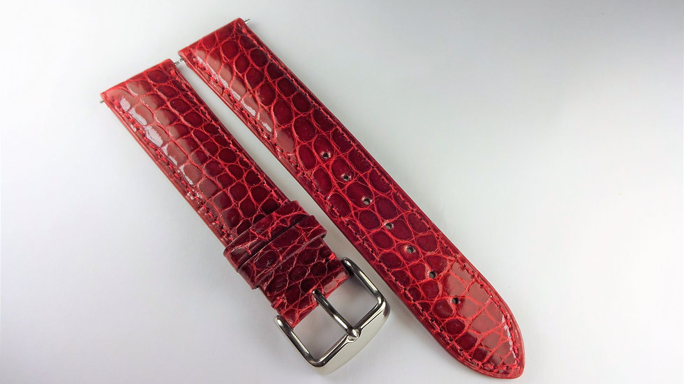 Replacement 20mm Red Genuine Alligator