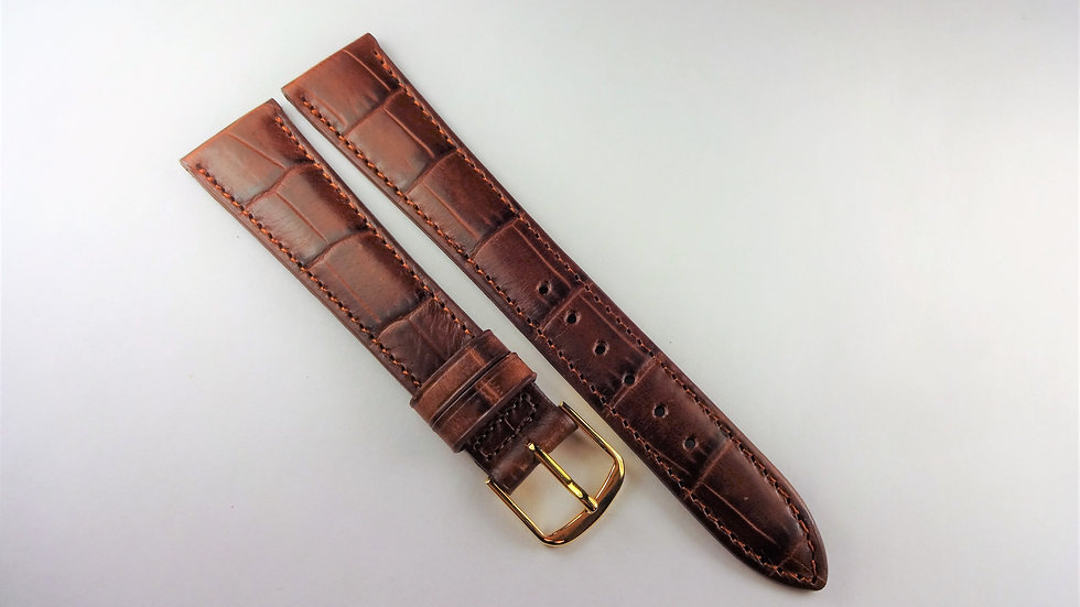 Replacement 18mm Brown Genuine Calfskin