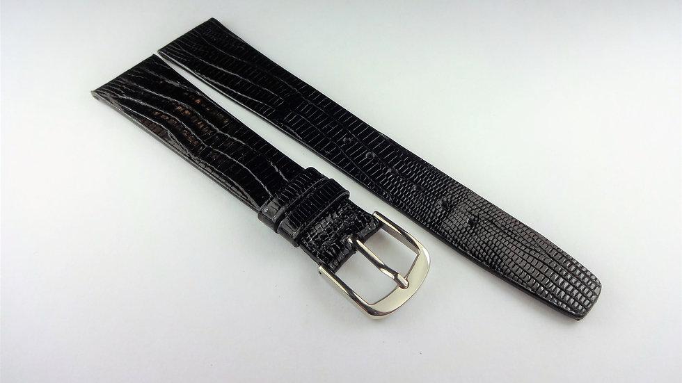 Cyma 18mm Black Genuine Allig-Lizard