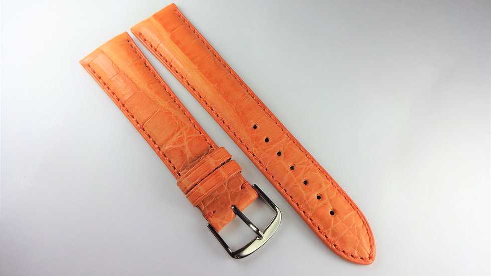Replacement 20mm Orange Genuine Crocodile