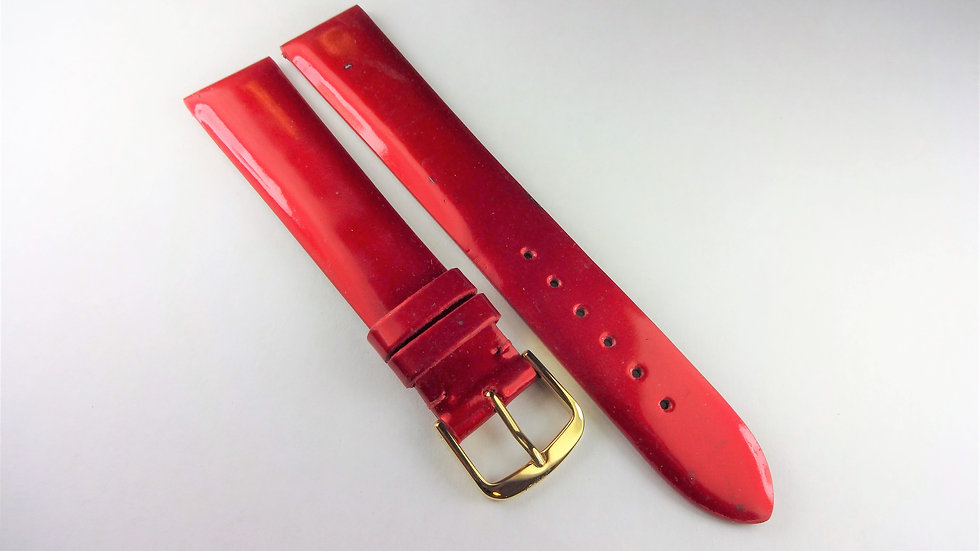 Replacement 18mm Red Genuine Patent Leather