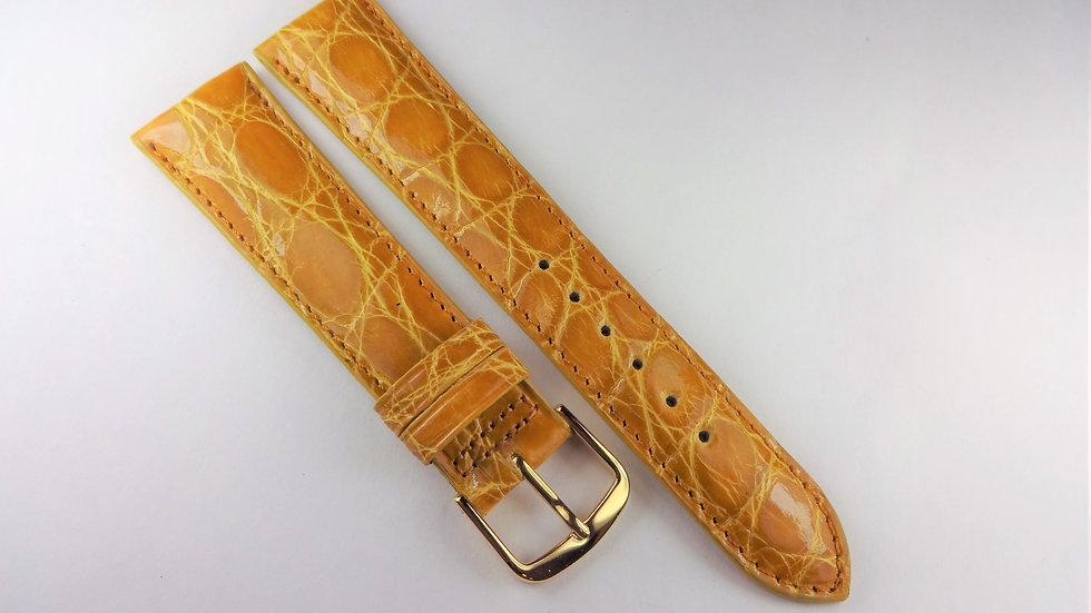 Replacement 20mm Yellow Genuine Crocodile