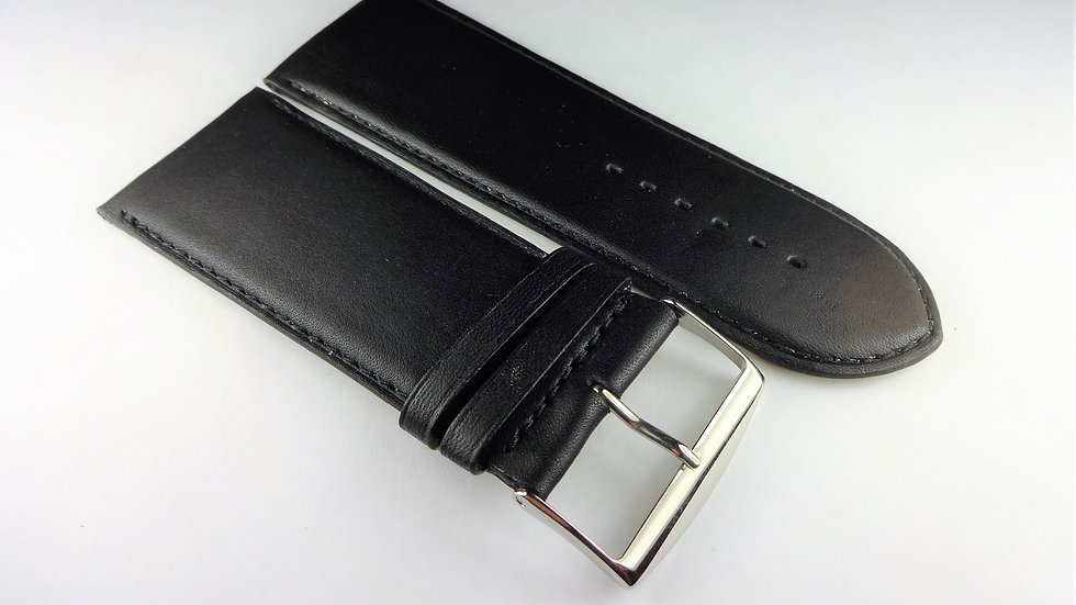 Replacement 32mm Black Genuine Box Plain Leather