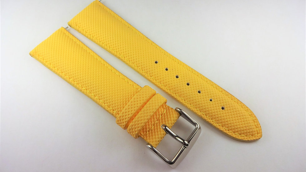 Replacement 24mm Yellow Genuine Rubberized Leather
