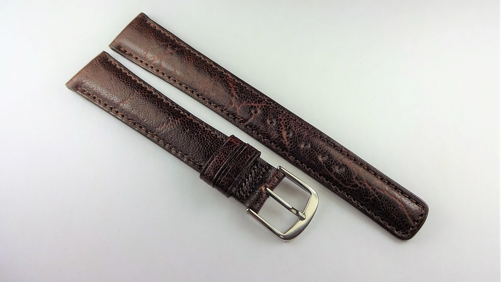 Replacement 17mm Brown Genuine Grained Calfskin